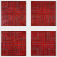 Segment 2008, mixed media on board, dimensions variable, 4 panels, each panel 60.7 x 60.7 cm