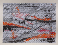 Wendy Kelly. Letter of Introduction 2 2013. Tritpych, panel 2, mixed media on paper. Panel size 30 x 41 cm